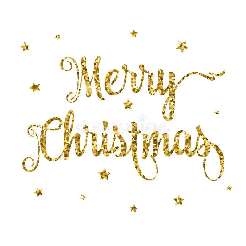 Fondo luccicante di Buon Natale illustrazione di stock