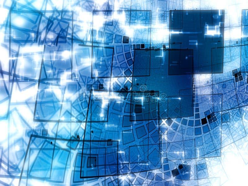 Fondo lucido astratto di tecnologia - immagine digitalmente generata illustrazione vettoriale