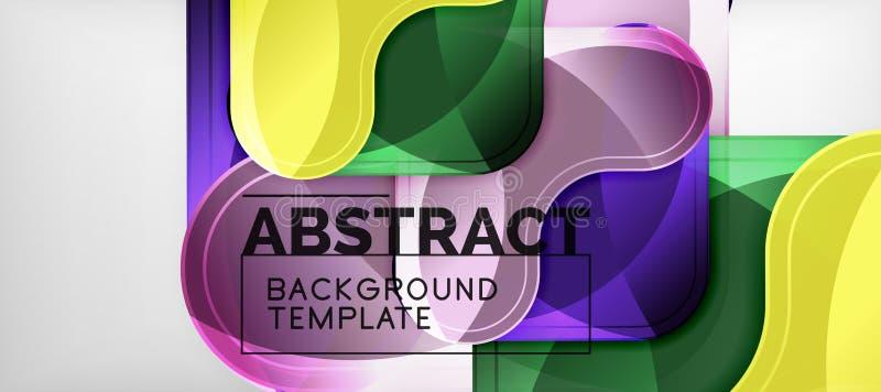 Fondo lucido brillante delle frecce, progettazione geometrica moderna pulita, composizione futuristica illustrazione vettoriale
