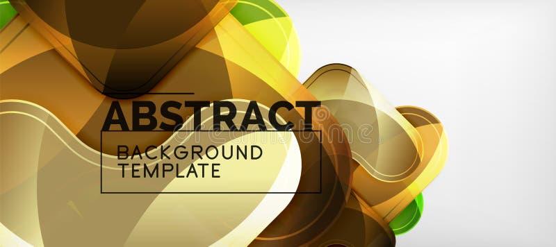 Fondo lucido brillante delle frecce, progettazione geometrica moderna pulita, composizione futuristica illustrazione di stock