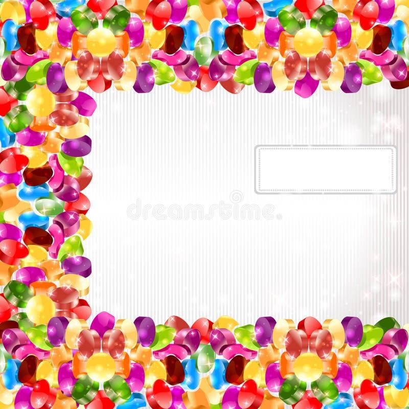 Fondo lucido del cerchio dell'arcobaleno di colore di Candy royalty illustrazione gratis