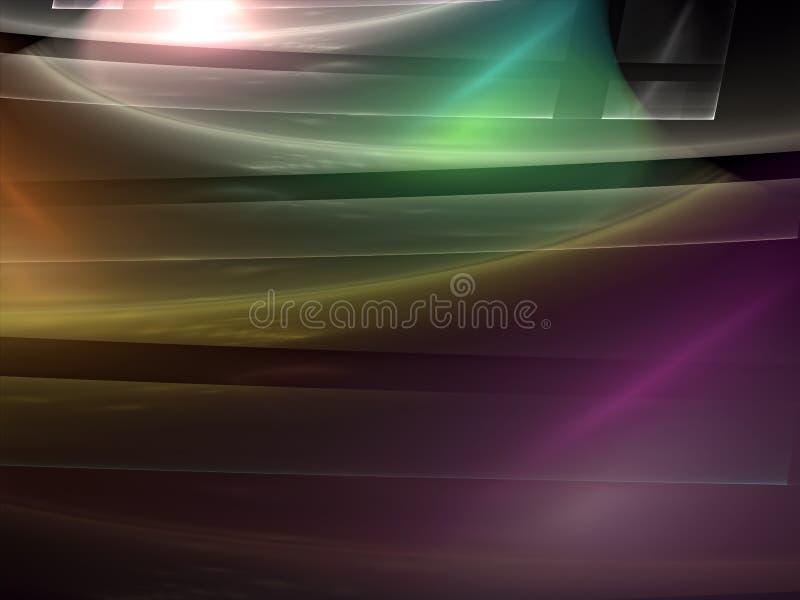 Fondo lucido di frattale - sottragga l'immagine digitalmente generata illustrazione di stock