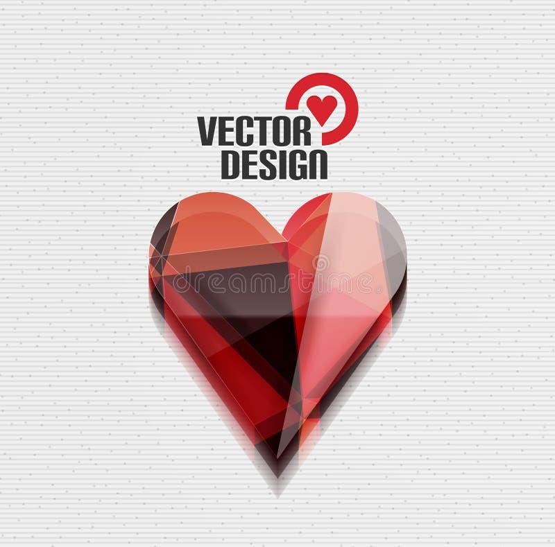 Fondo lucido di vettore del cuore di vettore 3d illustrazione vettoriale