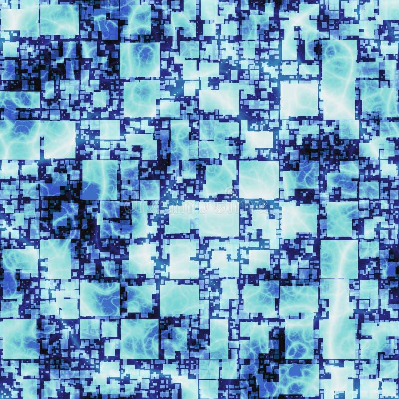 Fondo luminoso astratto del modello di arte grafica in pieno dei quadrati Struttura senza cuciture per lo spostamento del illustr fotografie stock libere da diritti