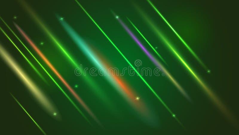 Fondo luminoso astratto di moto con i raggi luminosi ed il chiarore vaghi della lente Digitale dinamico, contesto di tecnologia p royalty illustrazione gratis