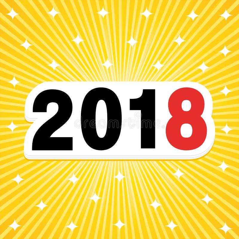 Fondo luminoso del nuovo anno 2018 illustrazione di stock