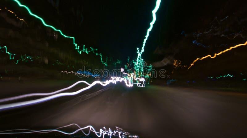 Fondo luminoso dell'automobile immersa fotografia stock