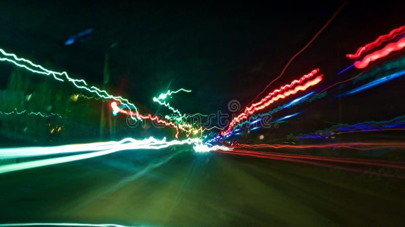 Fondo luminoso dell'automobile immersa immagini stock