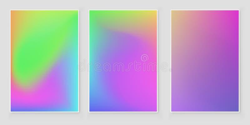 Fondo luminoso di pendenza di pendenza di colori Insieme luminoso del fondo di pendenza per le applicazioni mobili royalty illustrazione gratis