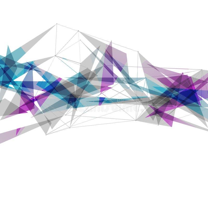 Fondo luminoso moderno dei collegamenti astratti illustrazione di stock