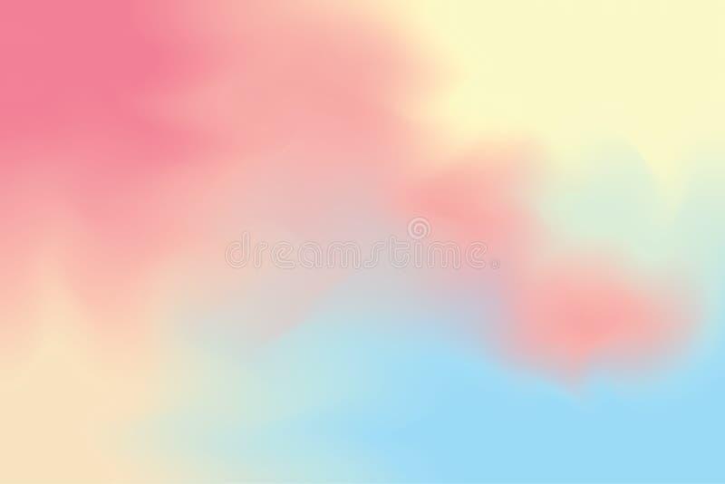 Fondo luminoso variopinto astratto di arte del pennello di colore, pastello acrilico della carta da parati di colore di acqua di  fotografia stock