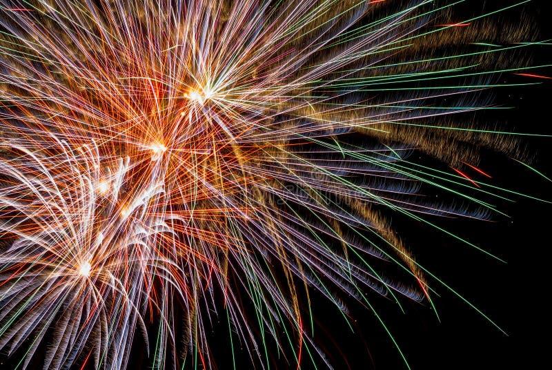 Fondo mágico de los fuegos artificiales fotos de archivo