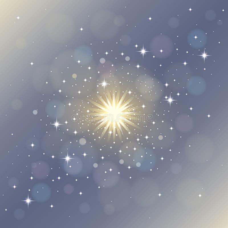 Fondo mágico del extracto del stardust ilustración del vector