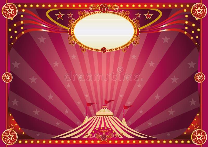 Fondo mágico horizontal del circo libre illustration