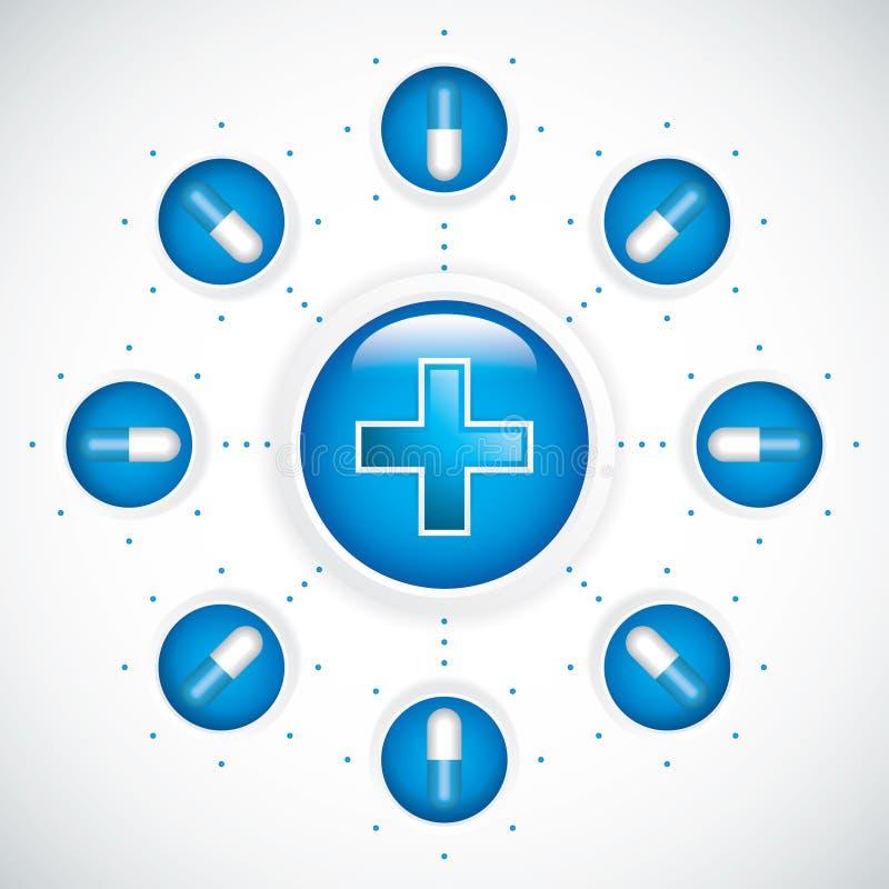 Fondo médico stock de ilustración