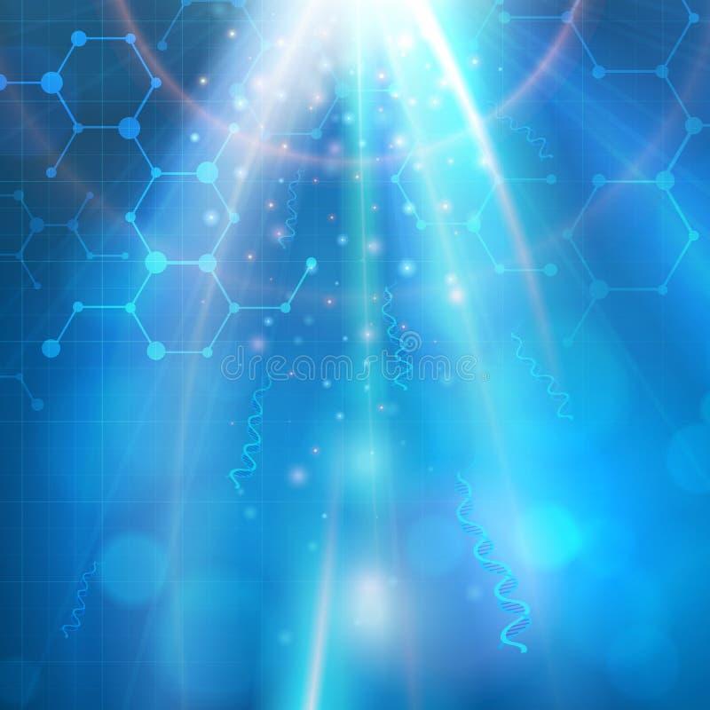 Fondo médico abstracto de la biotecnología stock de ilustración