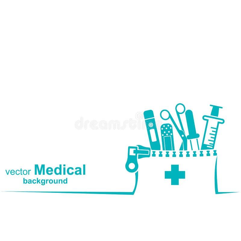 Fondo médico Atención sanitaria e investigación médica stock de ilustración