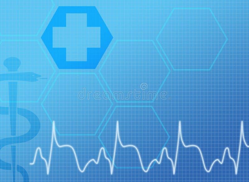 Fondo médico azul libre illustration