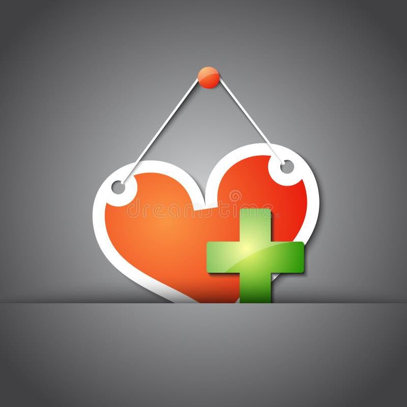 Fondo médico con el corazón libre illustration