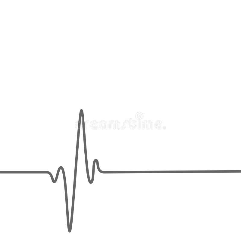 Fondo médico de la salud con la línea del golpeo del corazón ilustración del vector