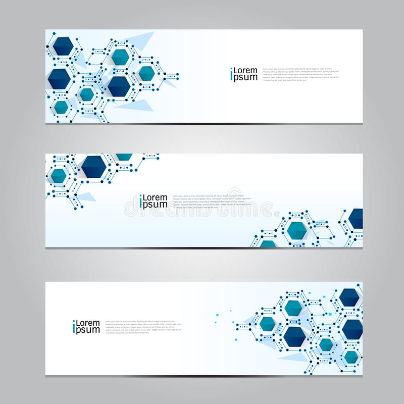 Fondo médico de la tecnología de red de la bandera del diseño del vector ilustración del vector