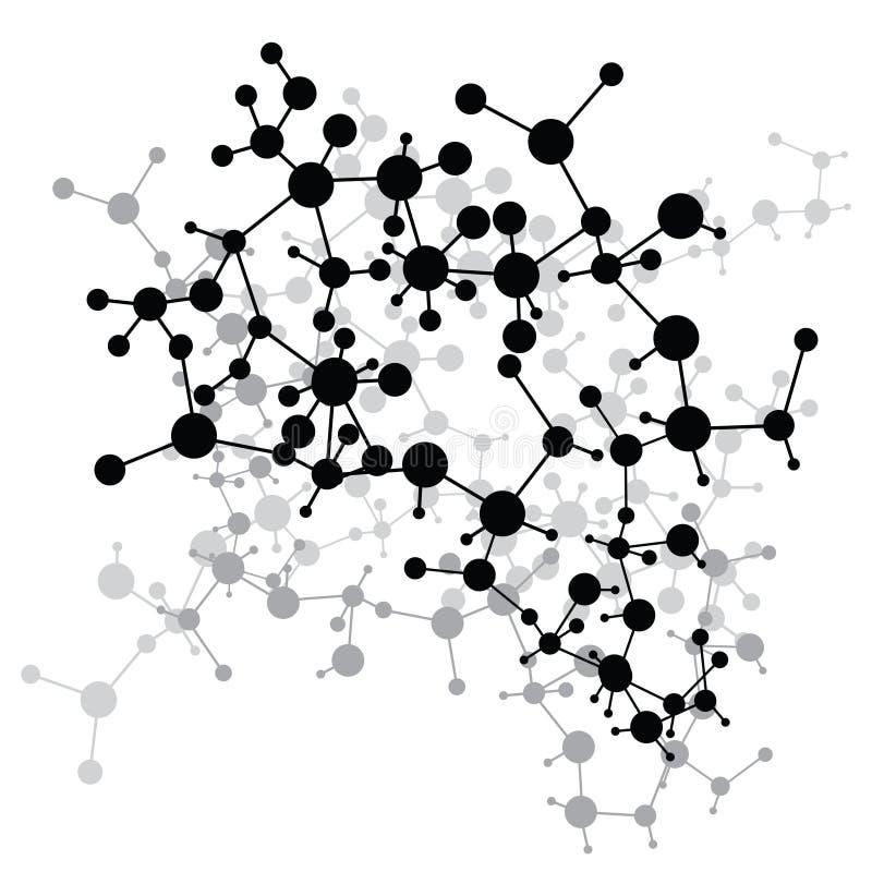 Fondo médico de las moléculas abstractas (vector) ilustración del vector