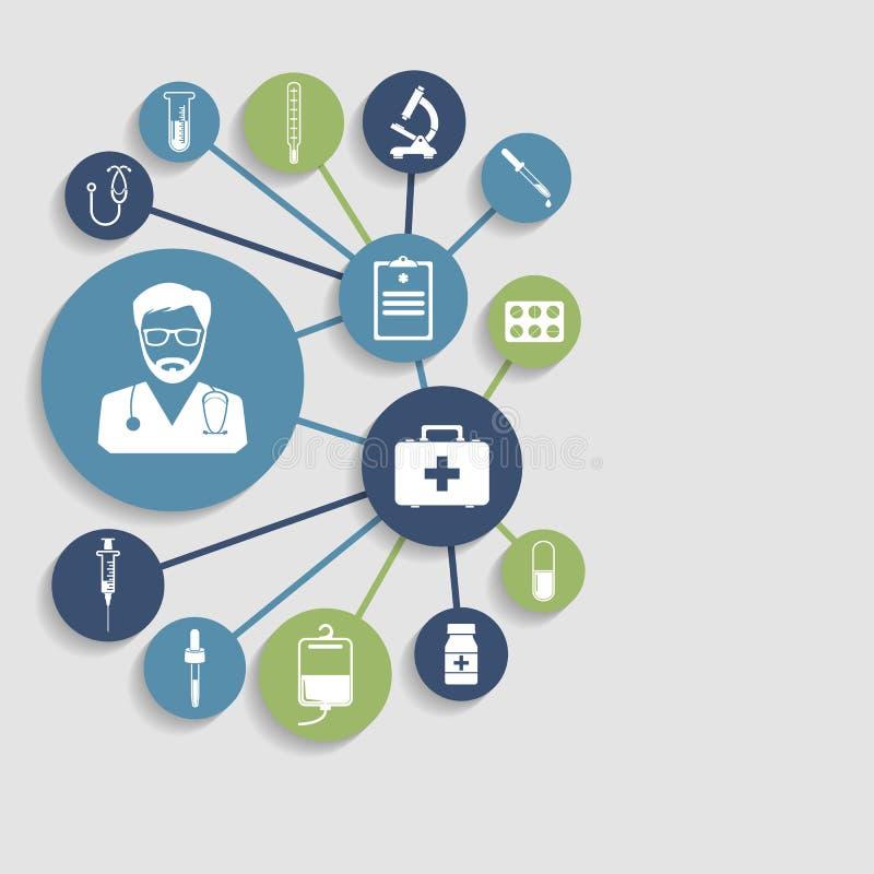 Fondo médico del concepto stock de ilustración