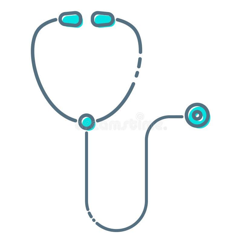 Fondo médico del vector del concepto del vector de la atención sanitaria con el estetoscopio Estetoscopio médico, equipo del este libre illustration