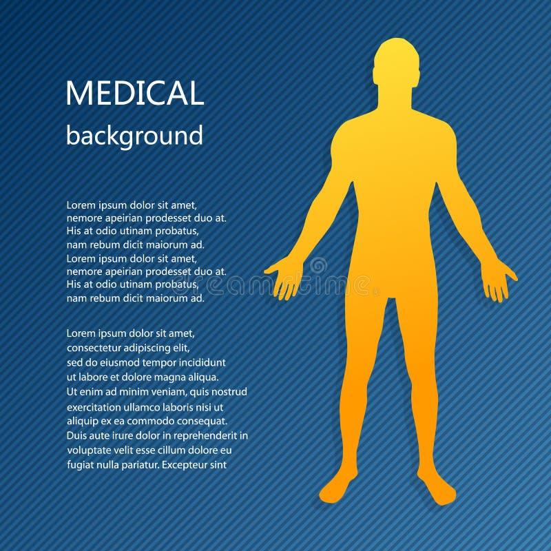 Fondo médico Modelo abstracto del hombre stock de ilustración
