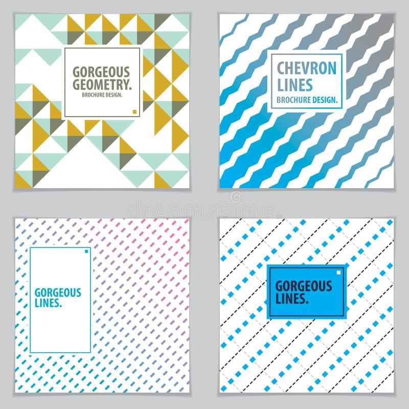 Fondo mínimo abstracto de los diseños geométricos para el annua del negocio stock de ilustración