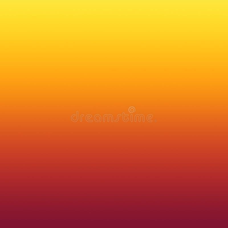 Fondo mínimo borroso amarillo-naranja caliente de la pendiente del extracto ilustración del vector