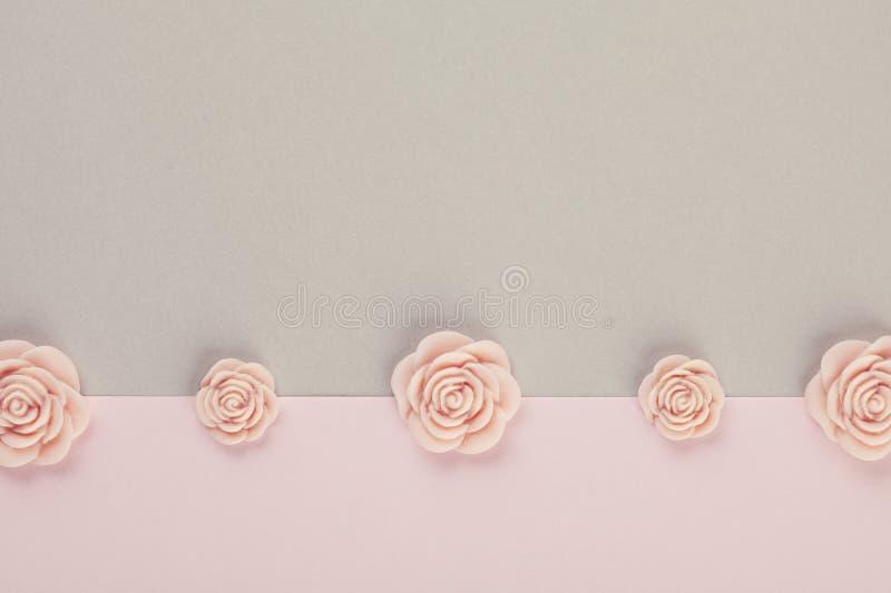 Fondo mínimo decorativo en colores pastel fotos de archivo libres de regalías