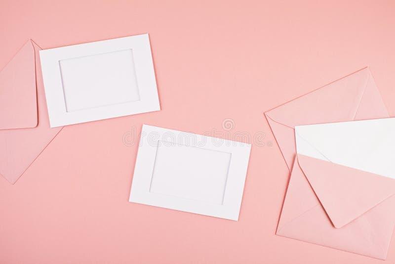 Fondo mínimo decorativo en colores pastel foto de archivo libre de regalías