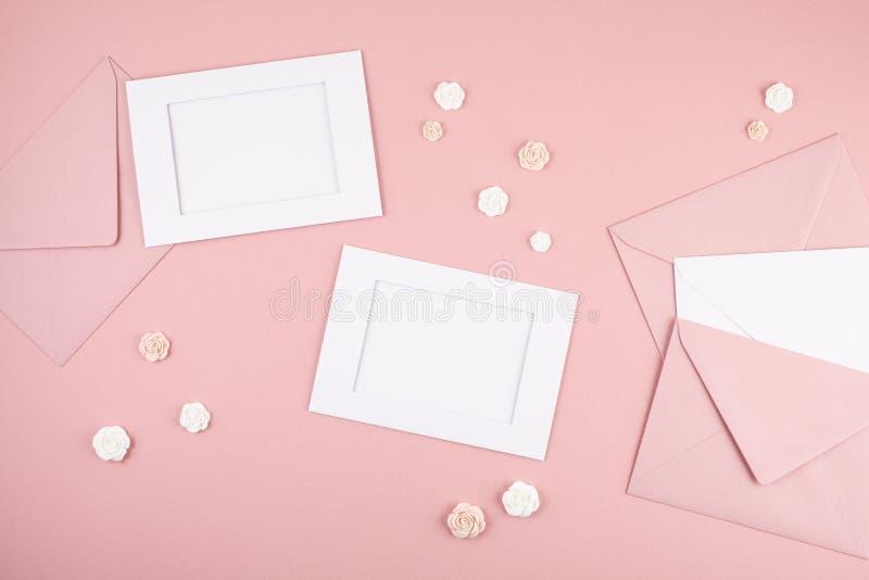Fondo mínimo decorativo en colores pastel imagen de archivo libre de regalías
