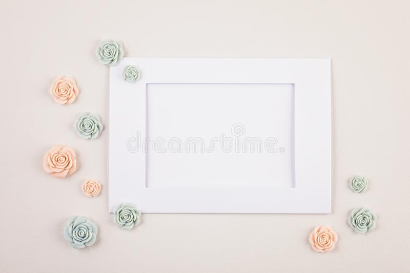 Fondo mínimo decorativo en colores pastel fotos de archivo