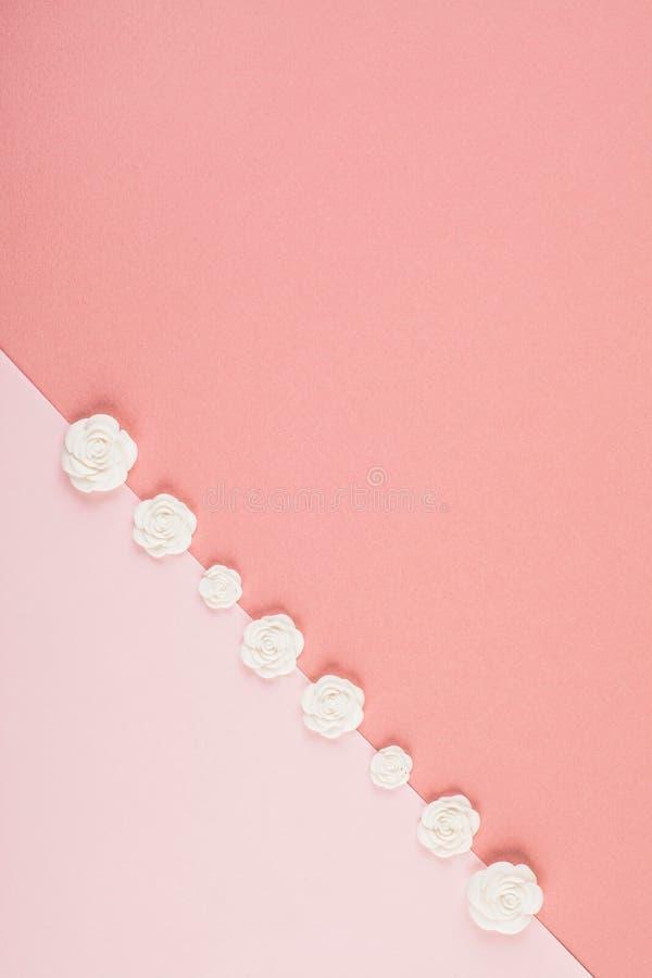 Fondo mínimo decorativo en colores pastel foto de archivo