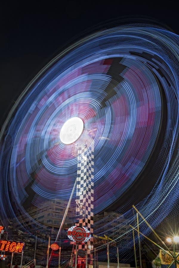 Fondo móvil de las luces de Luna Park foto de archivo libre de regalías