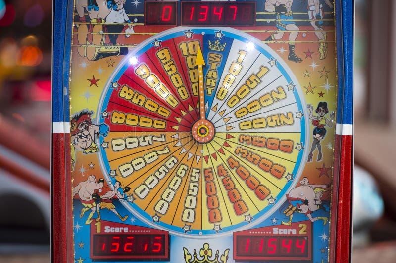Fondo móvil de las luces de Luna Park del carnaval de la feria de diversión fotos de archivo