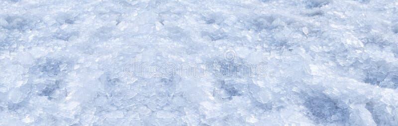 Fondo machacado quebrado de la nieve del invierno del hielo imagenes de archivo