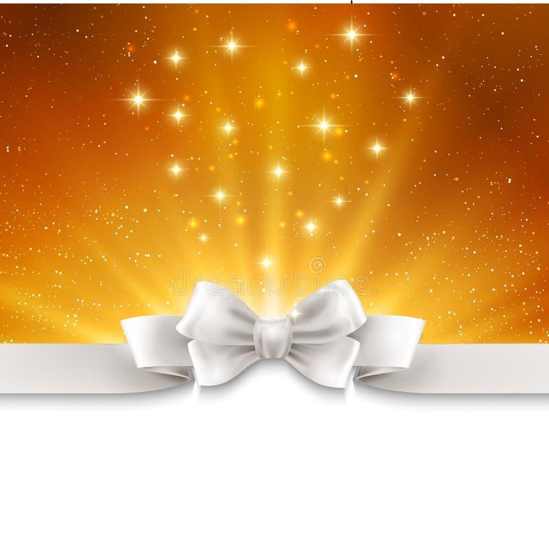 Fondo magico astratto della luce dell'oro con bianco royalty illustrazione gratis