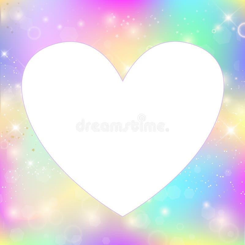 Fondo magico della struttura del cuore con la maglia dell'arcobaleno royalty illustrazione gratis