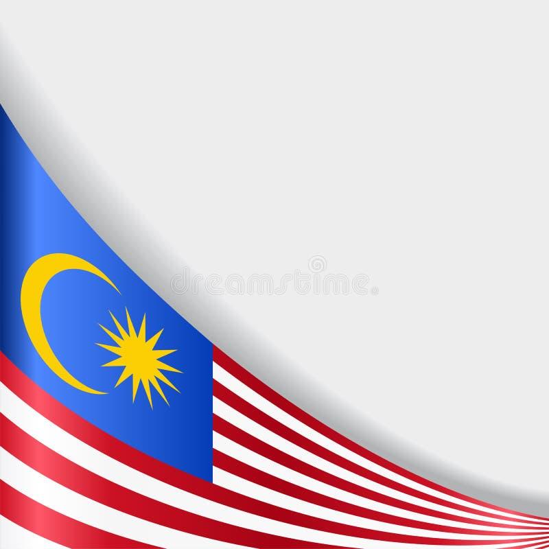 Fondo malese della bandiera Illustrazione di vettore illustrazione di stock