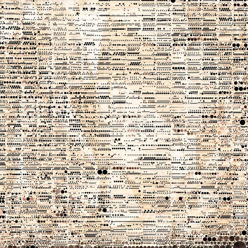 Fondo manchado mosaico negro y marrón abstracto stock de ilustración