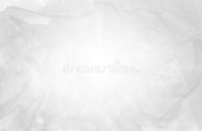 Fondo a mano de la acuarela del negro de la estrella de Sun para el diseño del texto, web Ele abstracto del ejemplo de la textura stock de ilustración