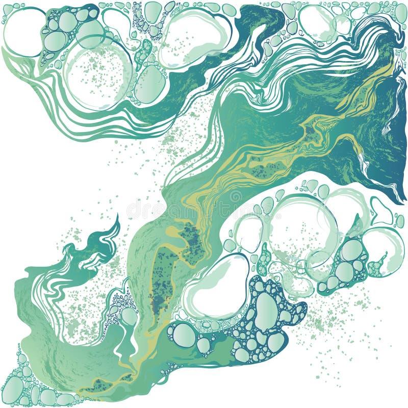 Fondo a mano del extracto del mármol del vector libre illustration