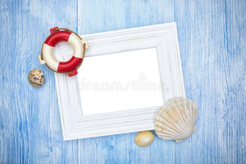 Fondo marítimo con el espacio de la copia fotografía de archivo libre de regalías