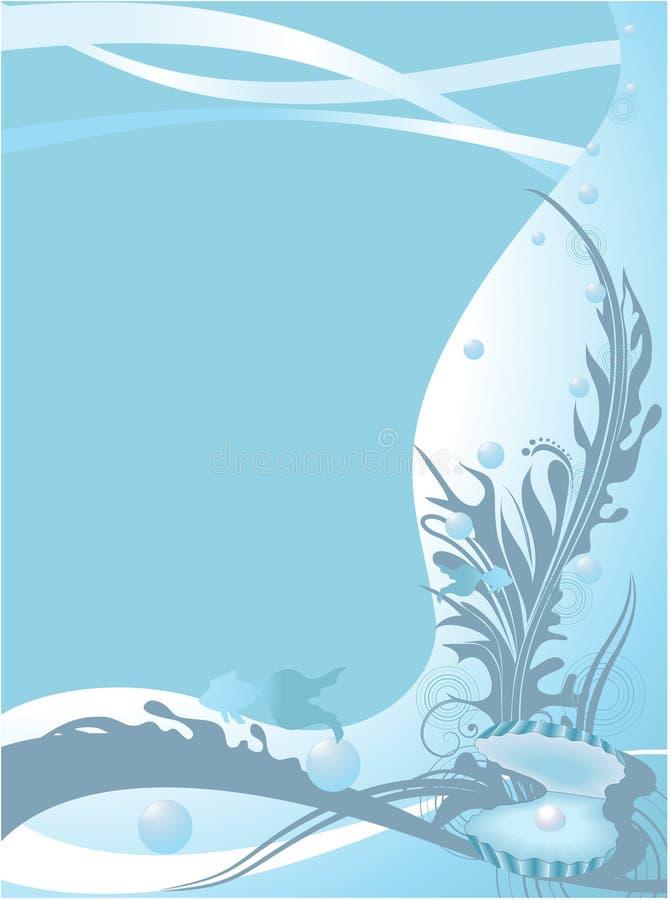 Fondo marina stock de ilustración