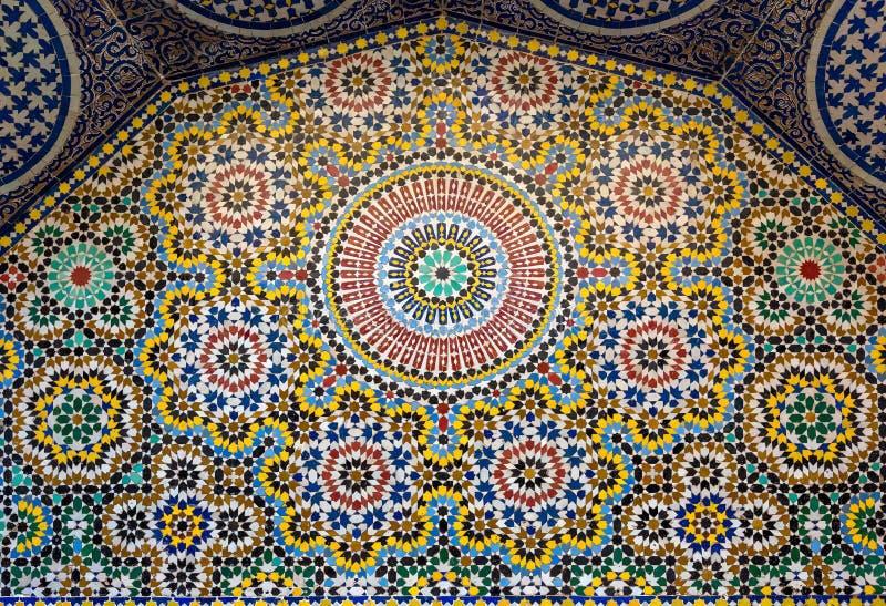 Fondo maroccan tradicional del modelo imagen de archivo
