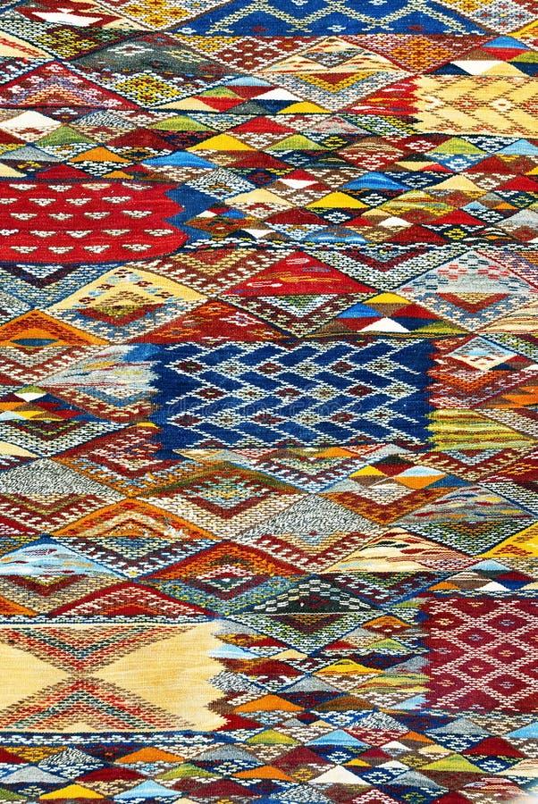 Fondo marocchino del tappeto fotografie stock libere da diritti