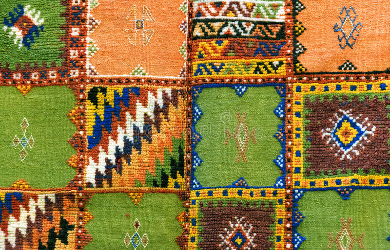 Fondo marocchino del tappeto immagini stock